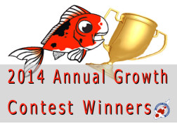 2014 Annual Koi Growth Contest Winners
