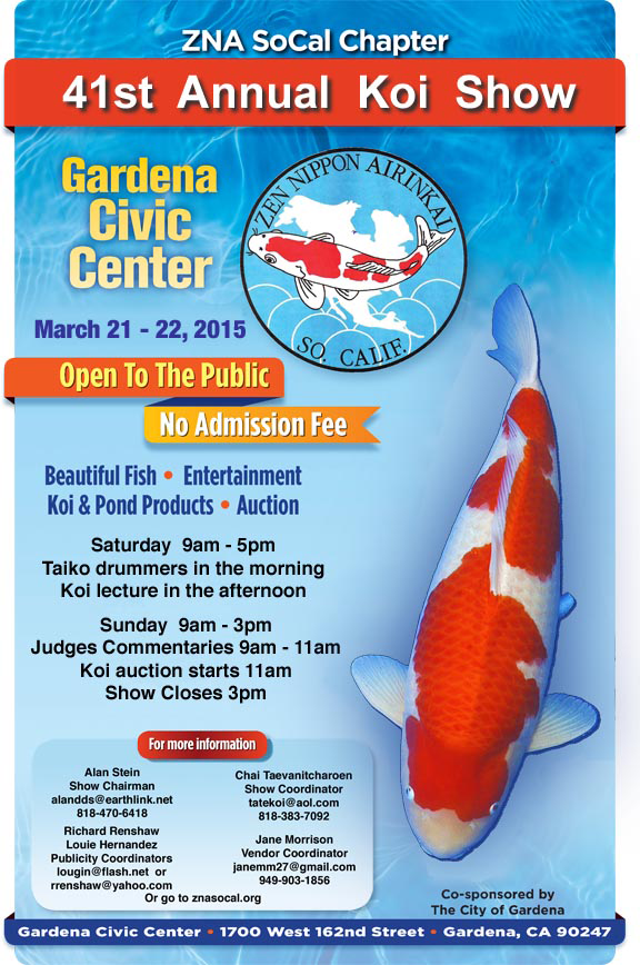 ZNA SoCal Chapter 41st Annual Koi Show March 2015